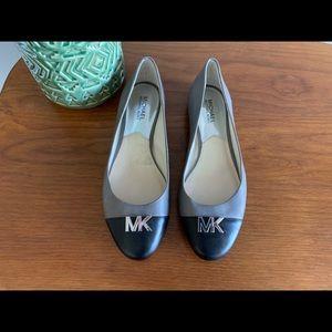 Michael Kors grey and black flats